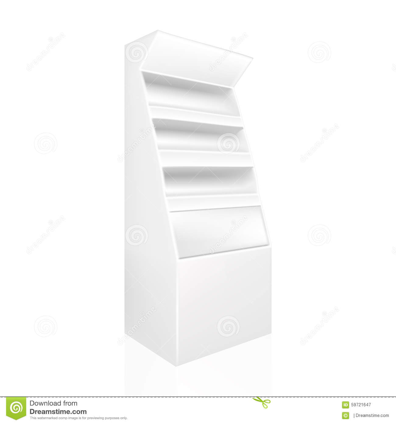 White gray pos poi stock vector image 59721647 for Point of sale display template