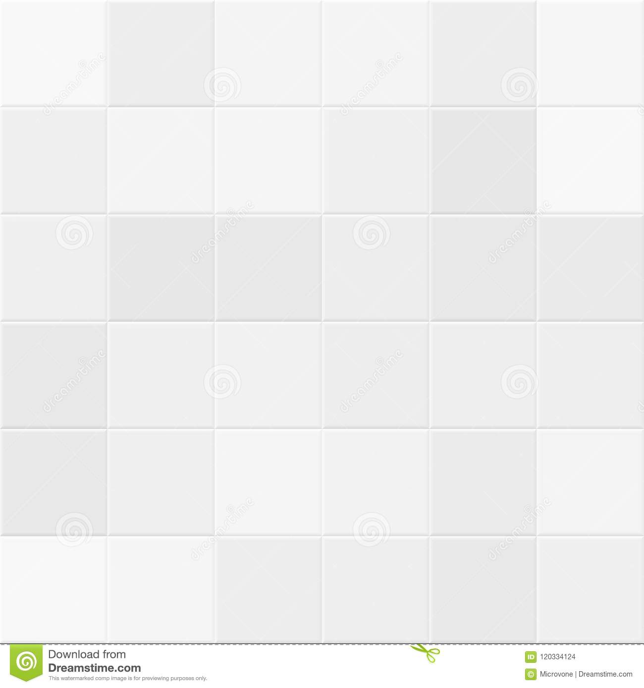 White And Gray Tiles On Bathroom Wall. Tiled Vector Seamless Texture ...