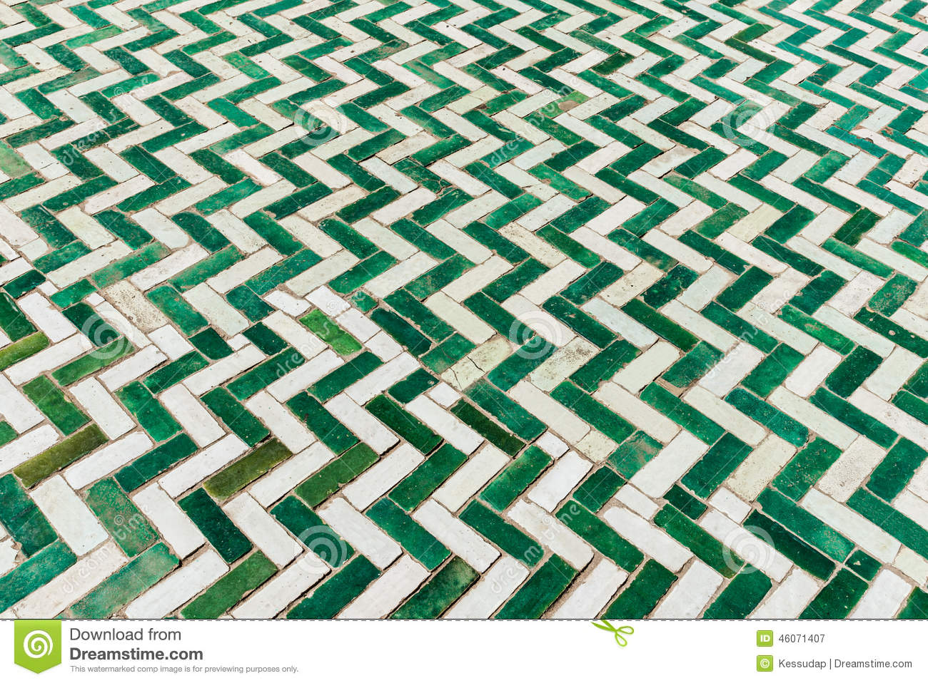 The white and green tile on the floor stock image image of the white and green tile on the floor dailygadgetfo Choice Image