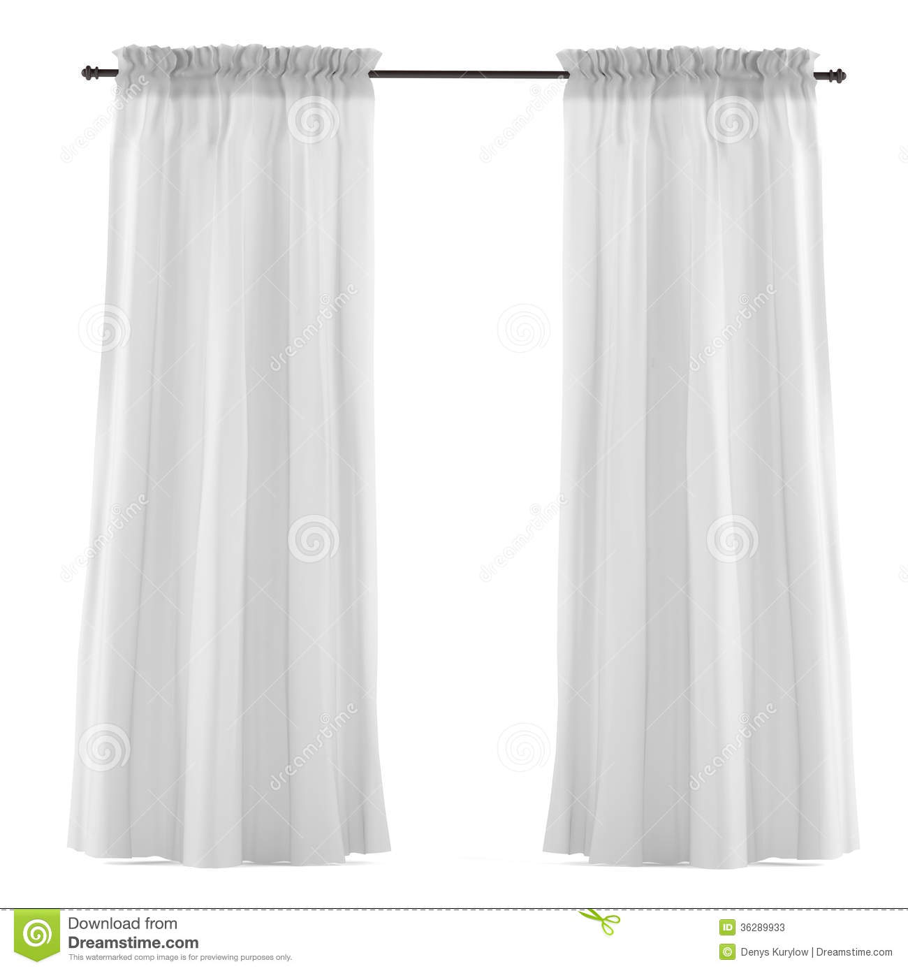 White grey curtain isolated. See my other works in portfolio.