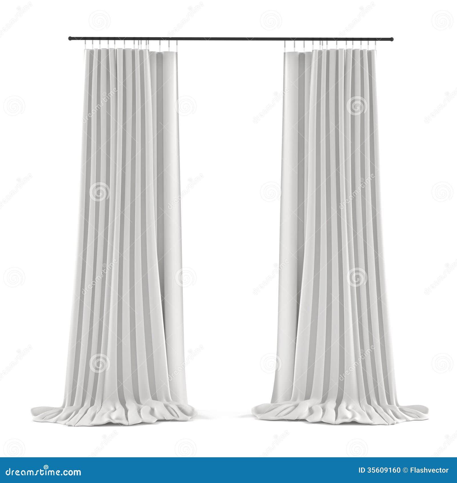 white grey curtain stock photo image 35609160