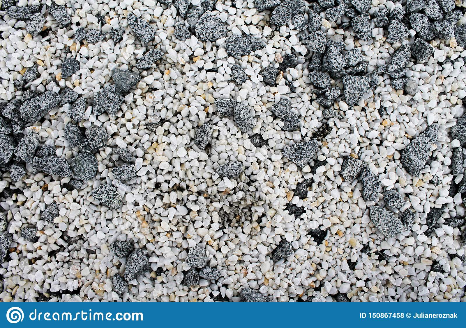 White and grey stones abstract background