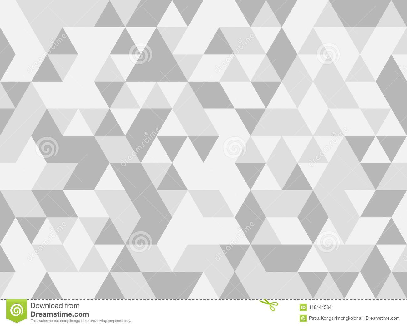 White and grey triangle tiles texture, seamless pattern