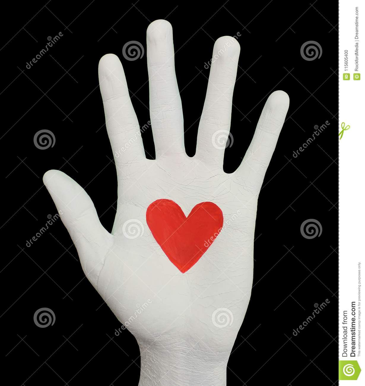 White Hand With Beating Heart