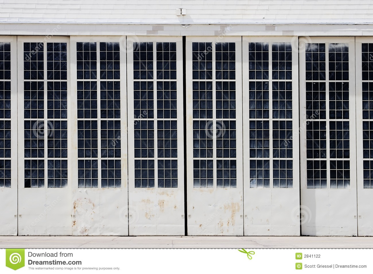 White Hangar Doors Stock Photography Image 2841122