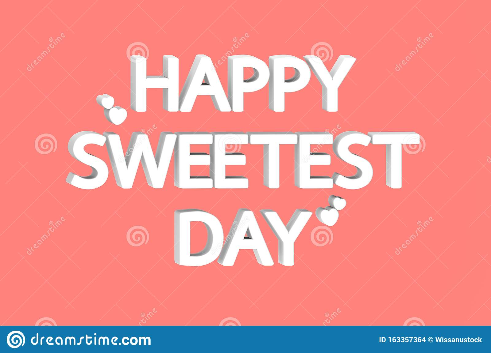 White Happy Sweetest Day Word With Hearts Isolated On Red Background Stock Illustration Illustration Of Rendering Holiday 163357364