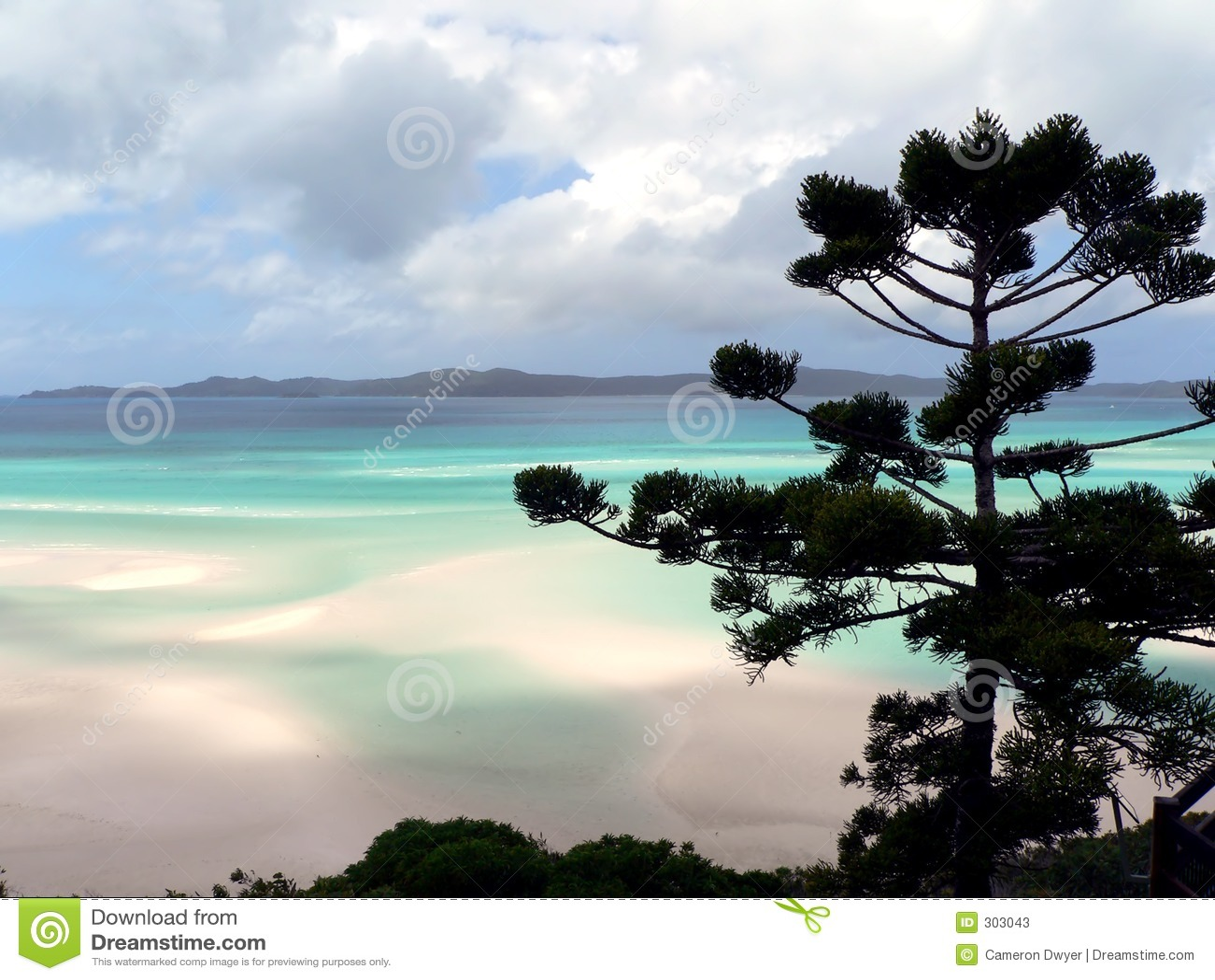 White haven na plaży