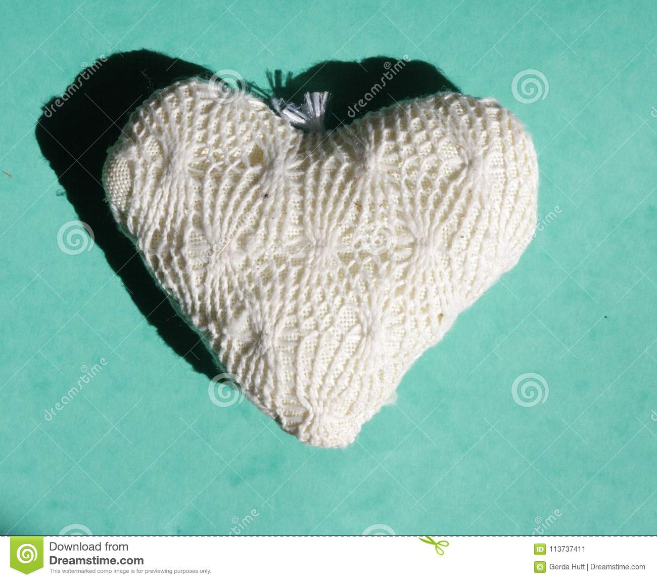 White Heart On A Green Background Stock Image Image Of Thank