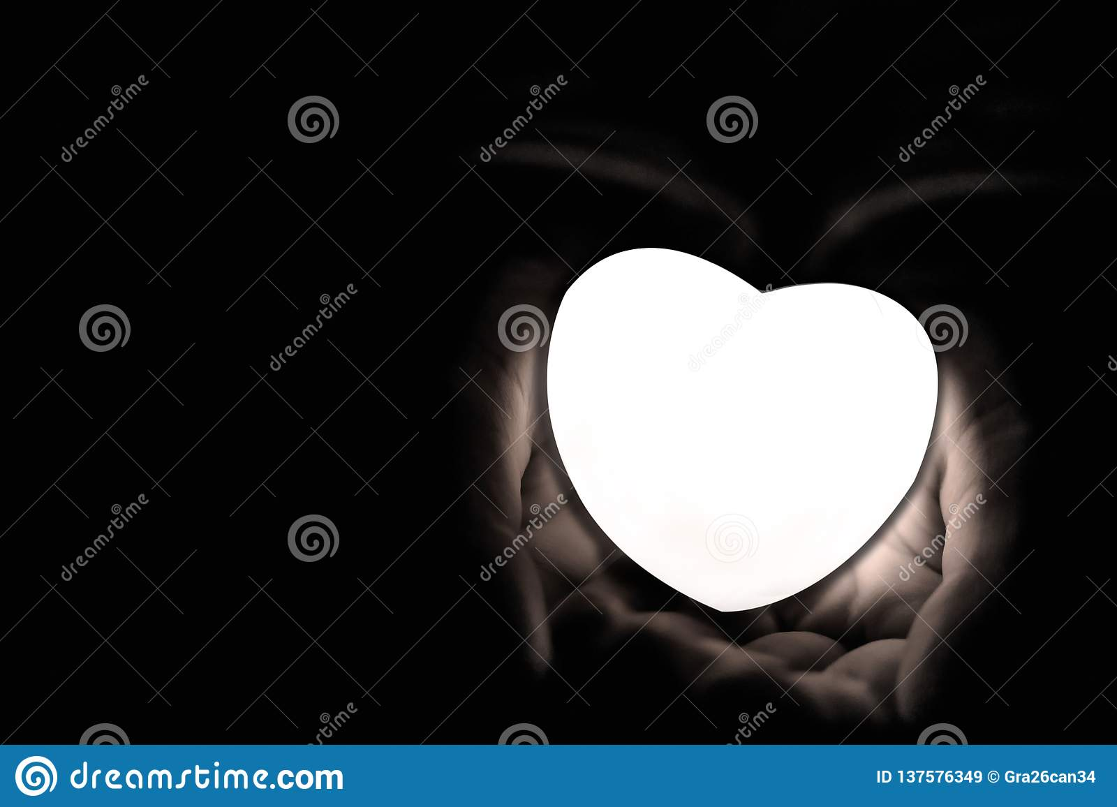 Specially prepared heart for Valentine`s Day