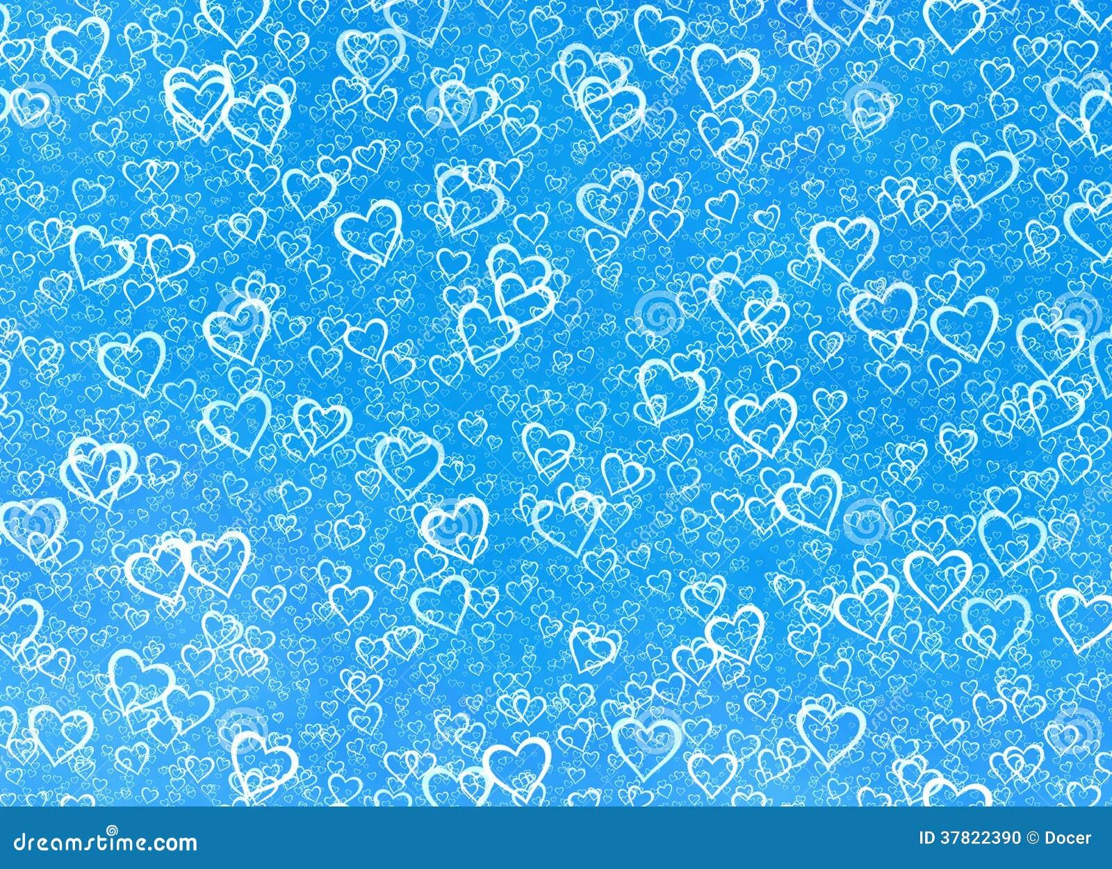 light blue heart background - photo #30
