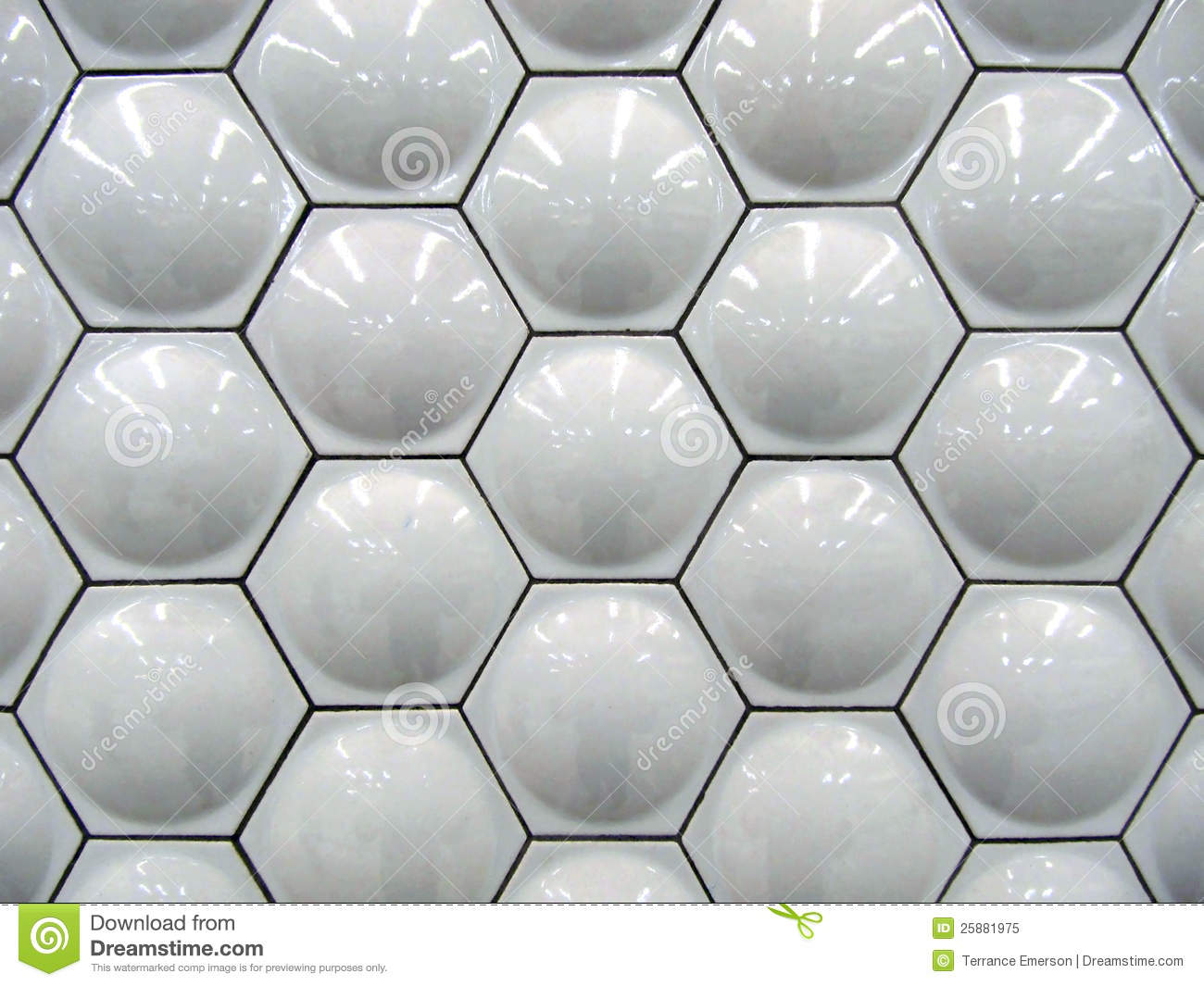 White Hexagon Tiles Stock Image Image Of Ceramics