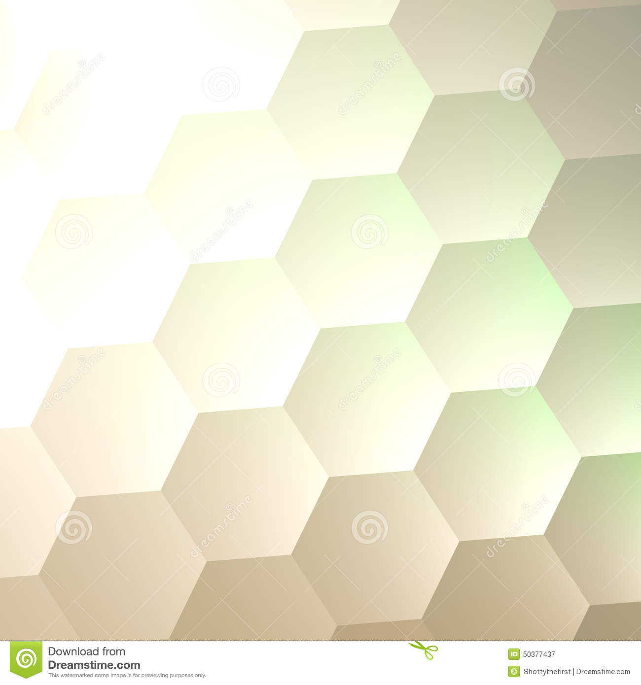 White Hexagon Wall Background Simple Blank Copy Space