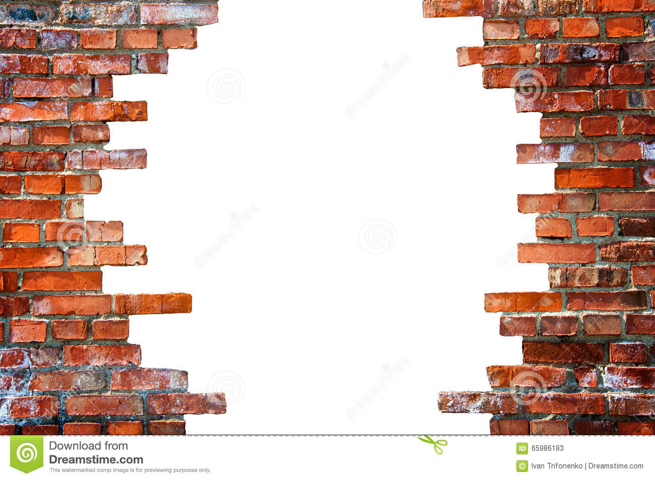 White Hole In The Brick Wall Stock Image Image Of Hole