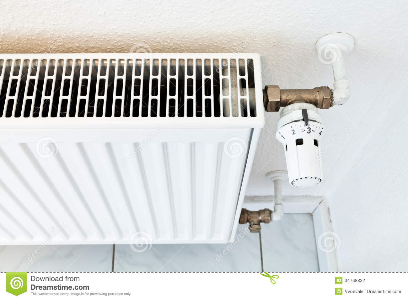 White Home Heat Radiator Stock Photo Image Of Heating