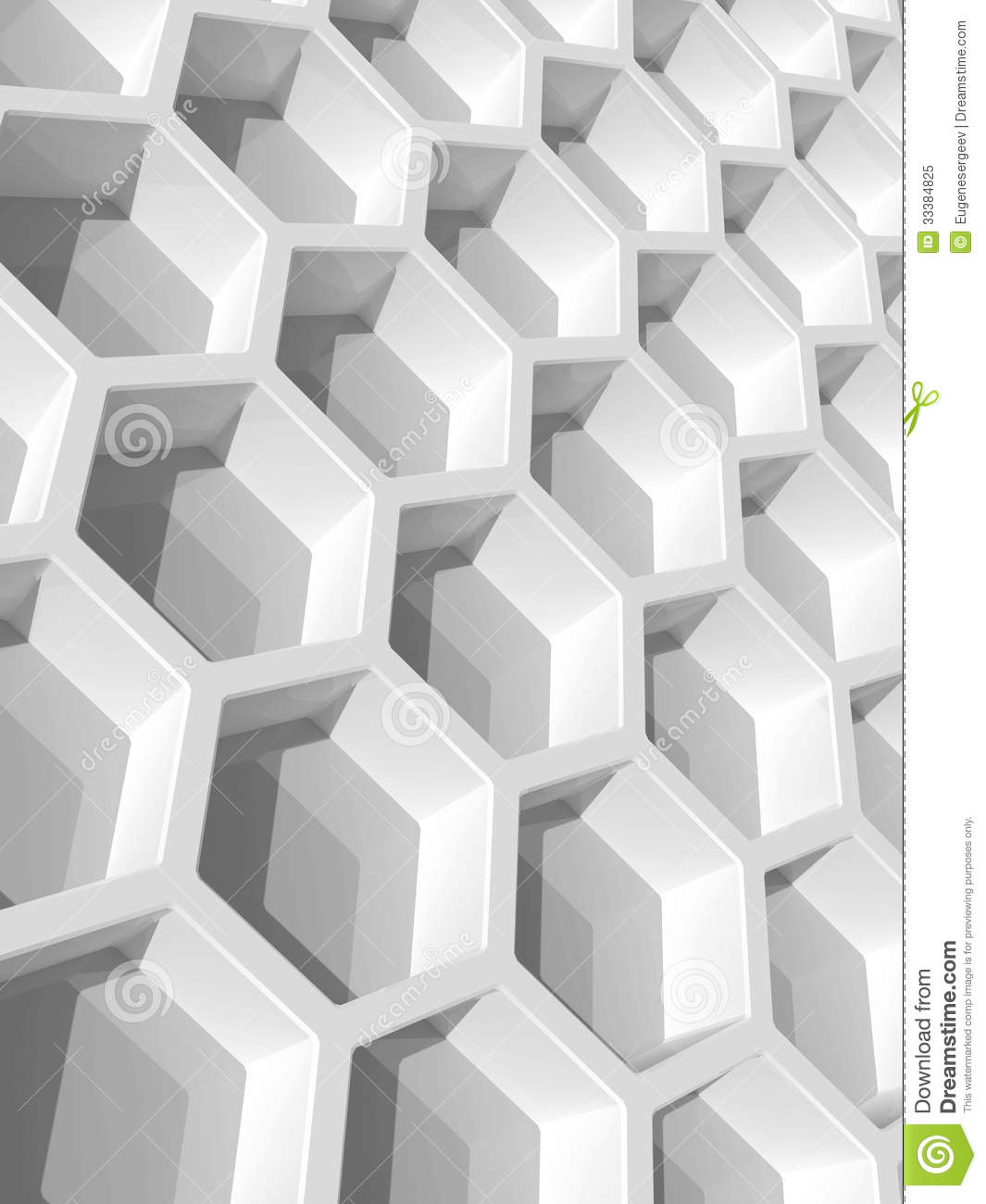 White Honeycomb Structure. 3d Render Royalty Free Stock ...