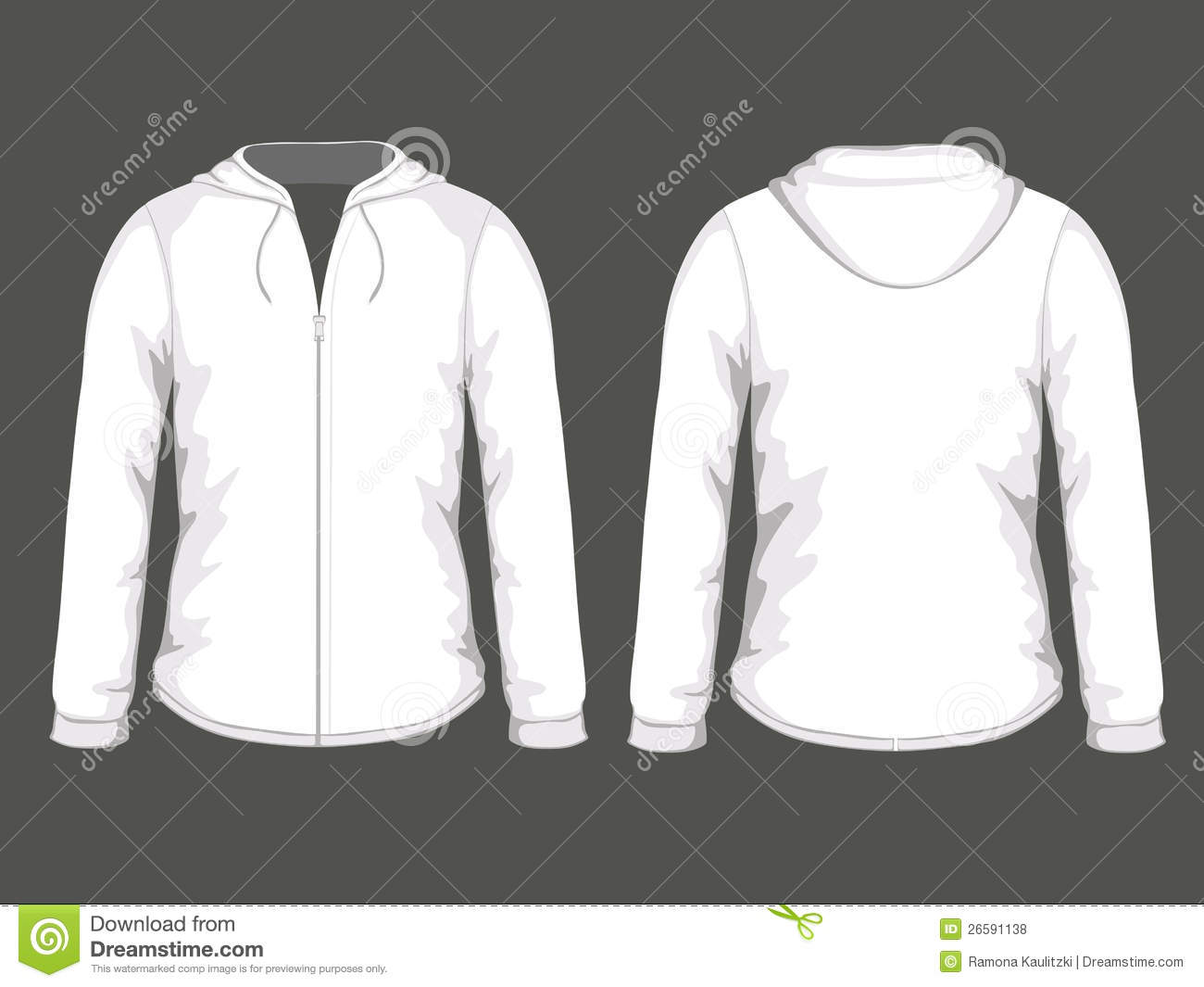 Women Hooded Sweatshirt Template Stock Vector - Image: 74914772