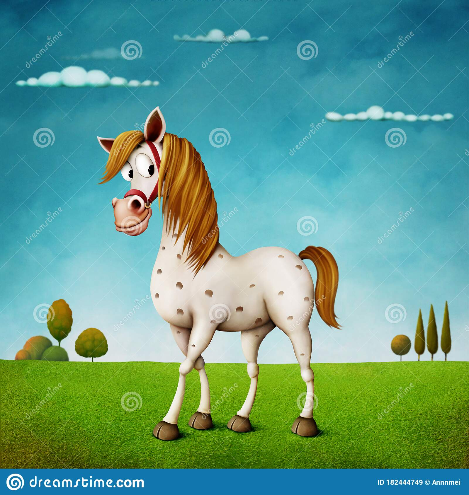 White Horse Stock Illustration Illustration Of Glade 182444749