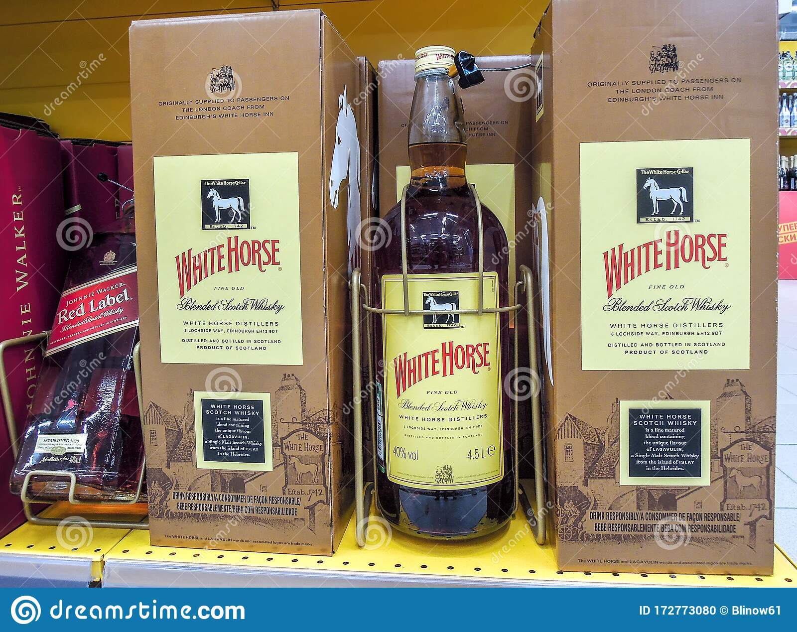White Horse Whiskey In The Big Bottle Ready For Sale Editorial Image Image Of Grocery Alcoholic 172773080