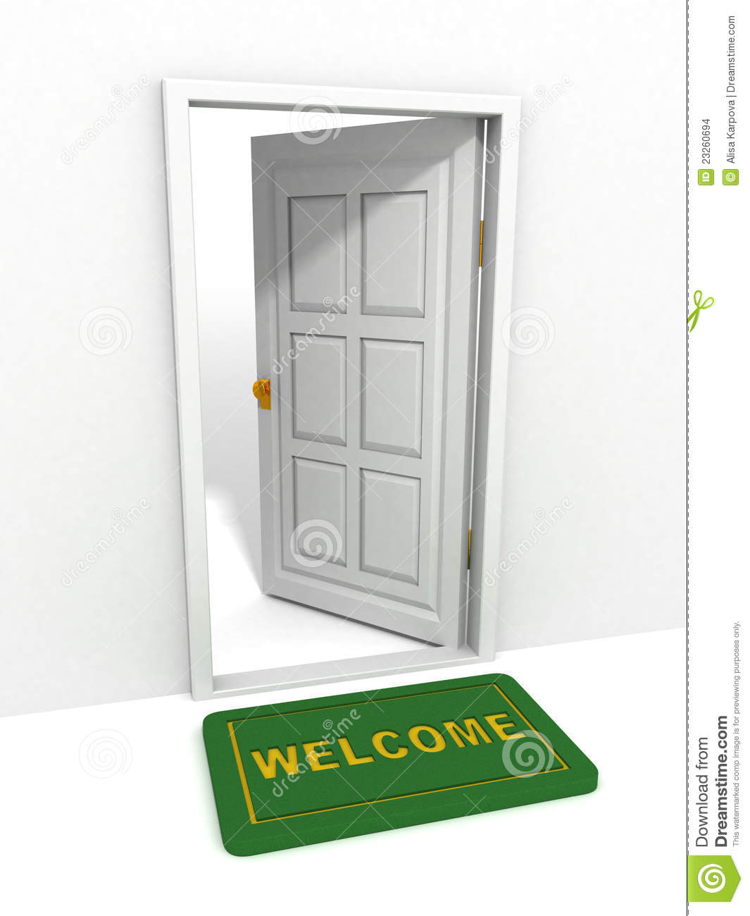 Open Door Welcome Mat Welcome mat and open doorOpen Door Welcome Mat