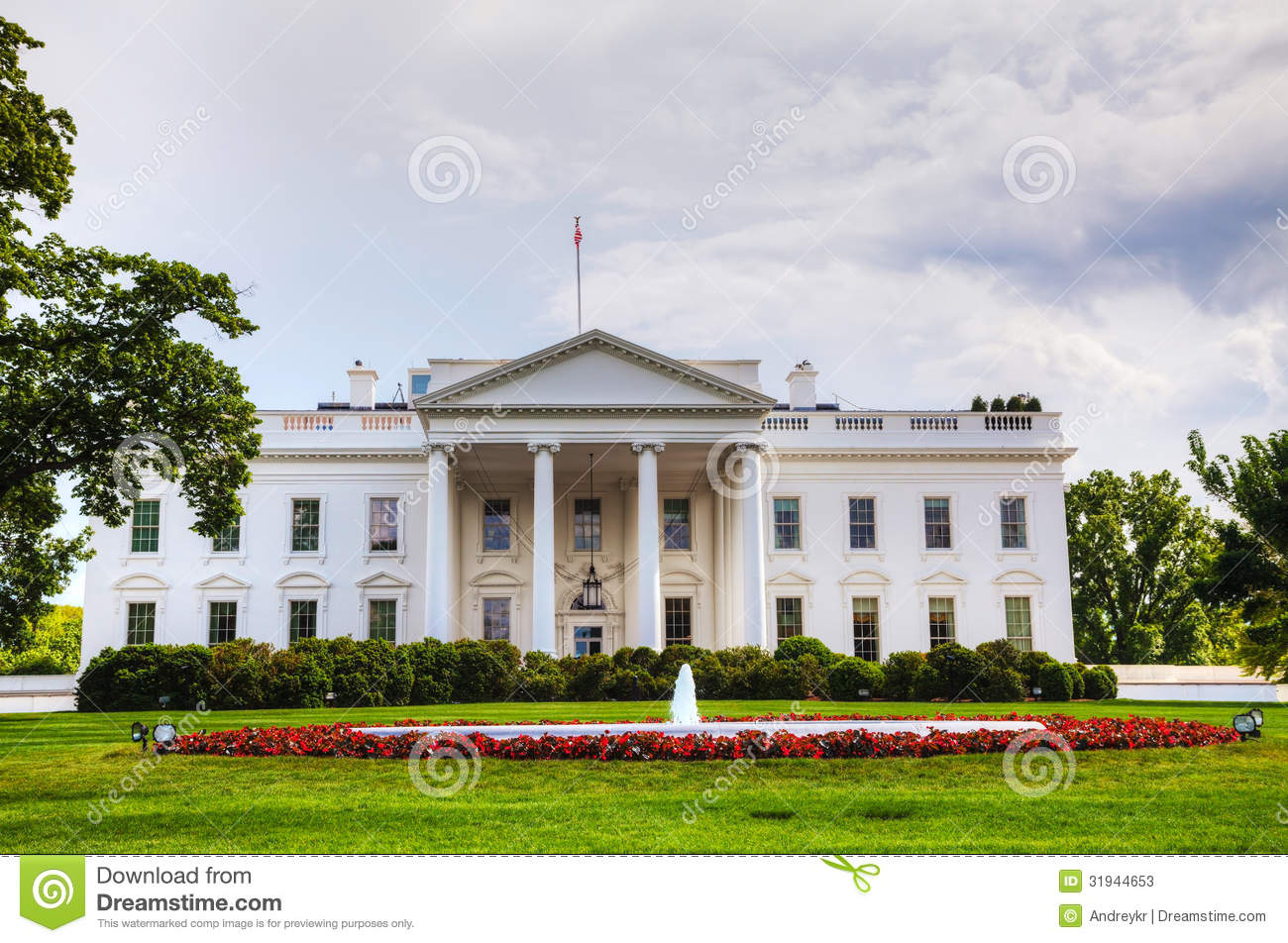 The White House Building In Washington Dc Stock Photos