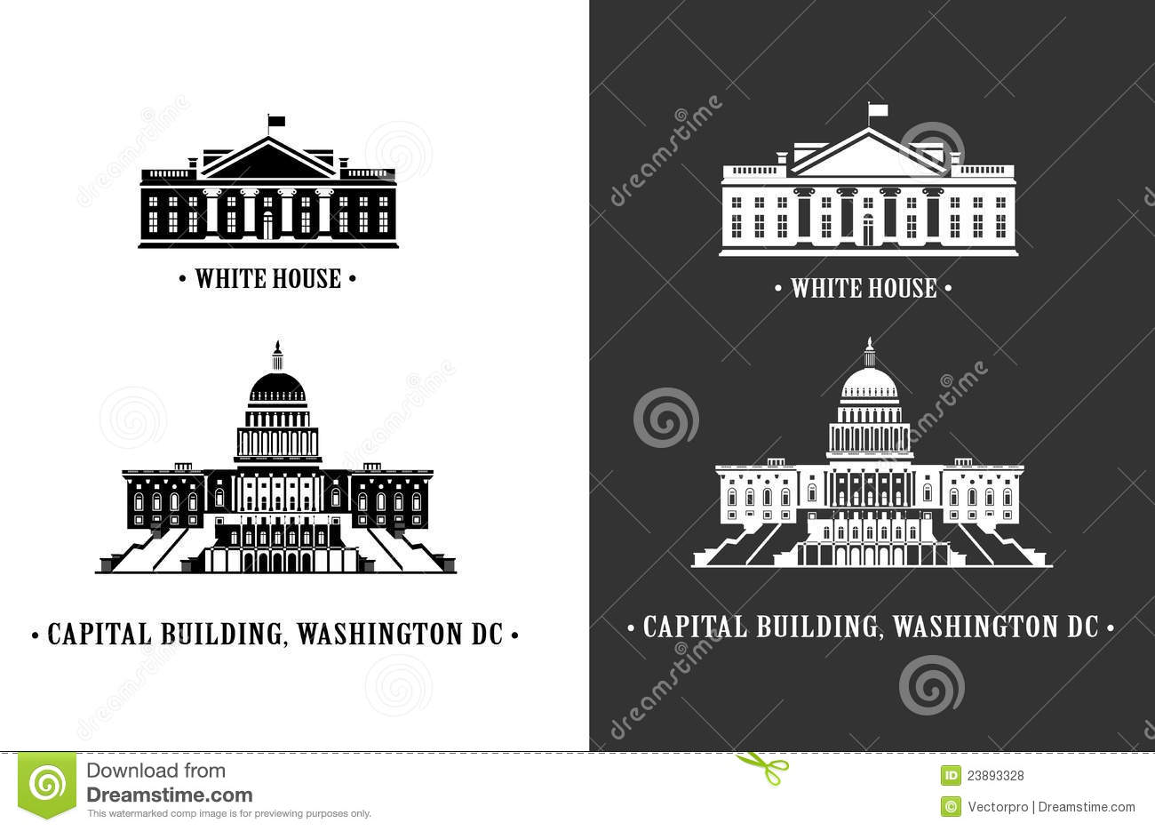 White house and capitol building in washington royalty for Building a house in washington state