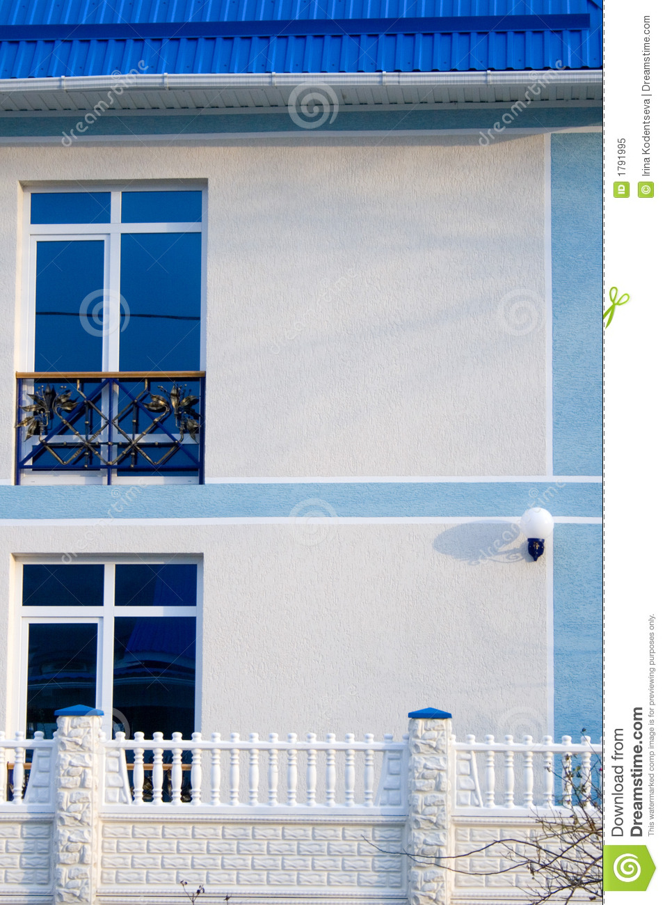 White house with french balcony royalty free stock photo for Balcony french