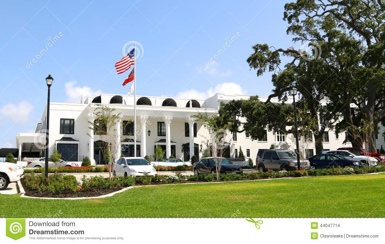 the white house hotel gulfport ms editorial stock image. Black Bedroom Furniture Sets. Home Design Ideas