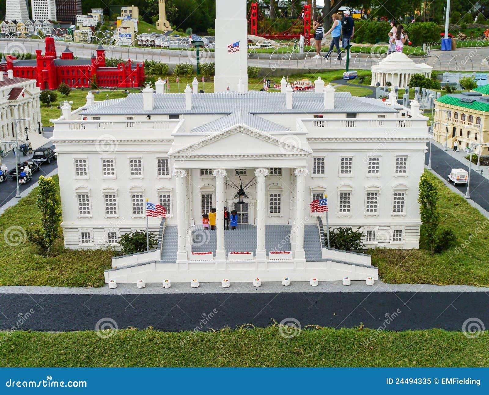 White House Made From Legos At Legoland Florida Le