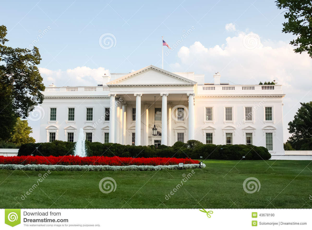 The White House Stock Photo Image 43678190