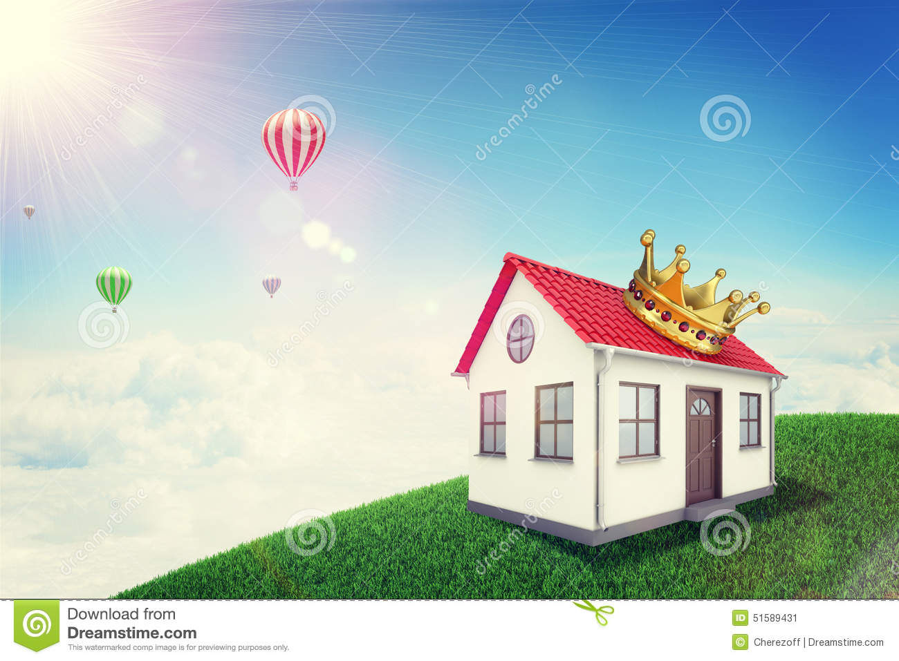 balloon crown sky stock photos royalty free stock images. Black Bedroom Furniture Sets. Home Design Ideas