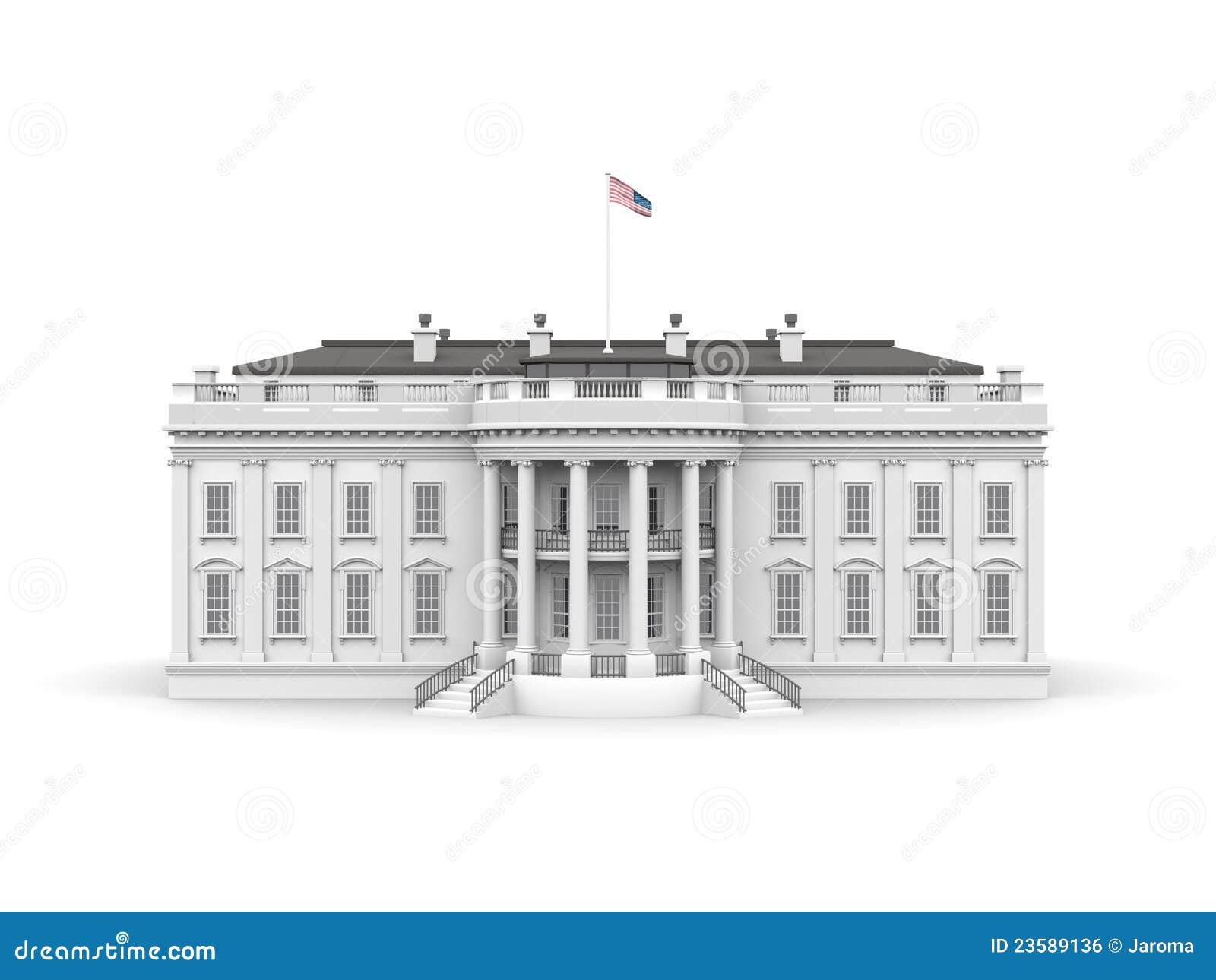 white house rendered illustration royalty free stock image Washington Monument Cartoon washington monument clipart