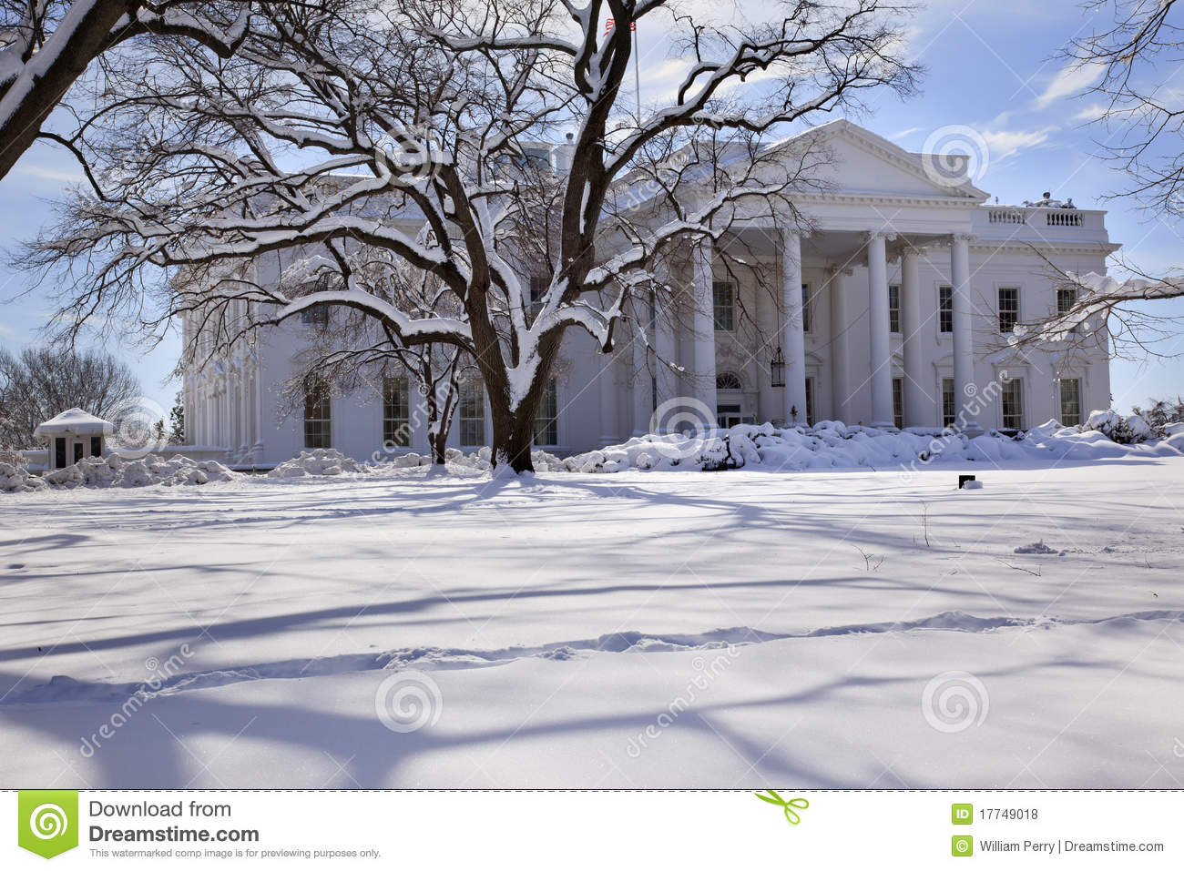 white house snow washington dc stock photo image 17749018. Black Bedroom Furniture Sets. Home Design Ideas