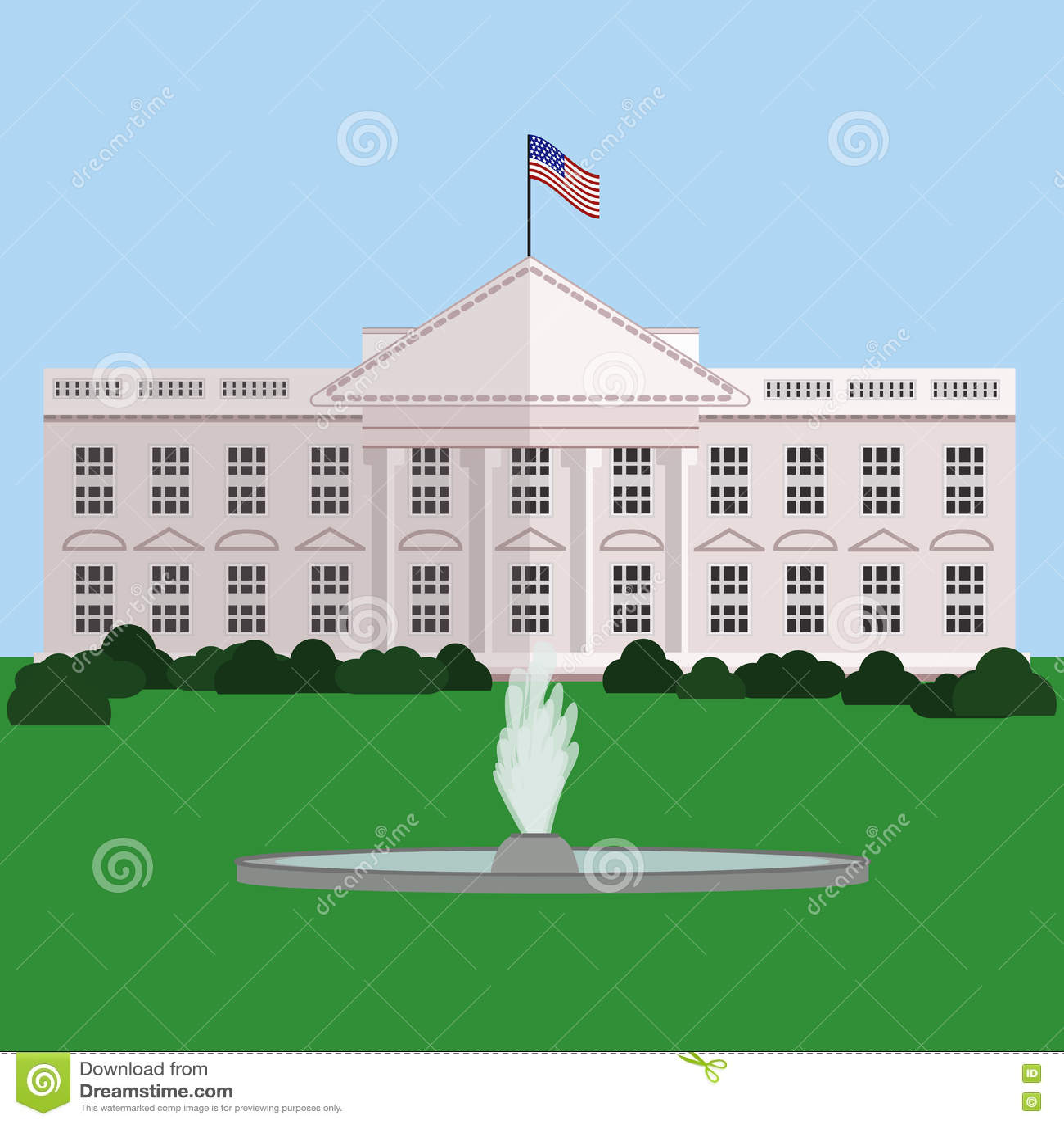 white house in washington dc vector stock vector illustration of rh dreamstime com