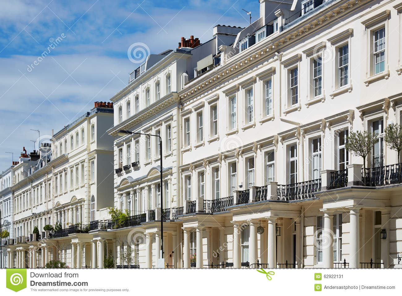White houses facades in london english architecture stock for English for architects