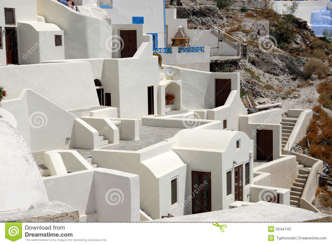 White Houses In Santorini Greece Stock Image Image 5544743