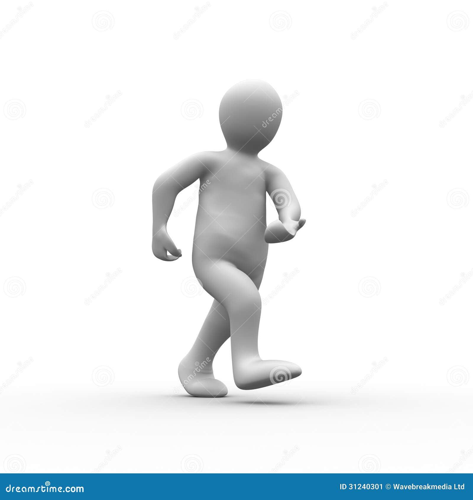 White Human Figure Walking Stock Image - Image: 31240301