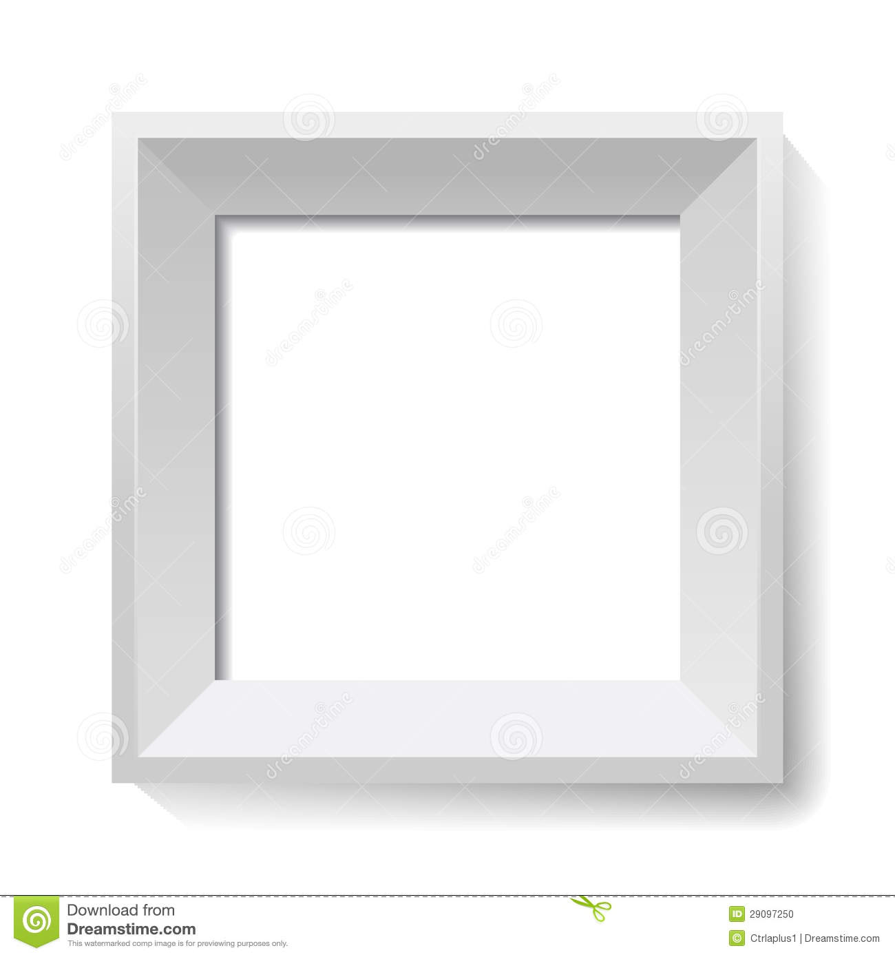 White Image And Photo Frame. Vector. Stock Vector - Illustration of ...