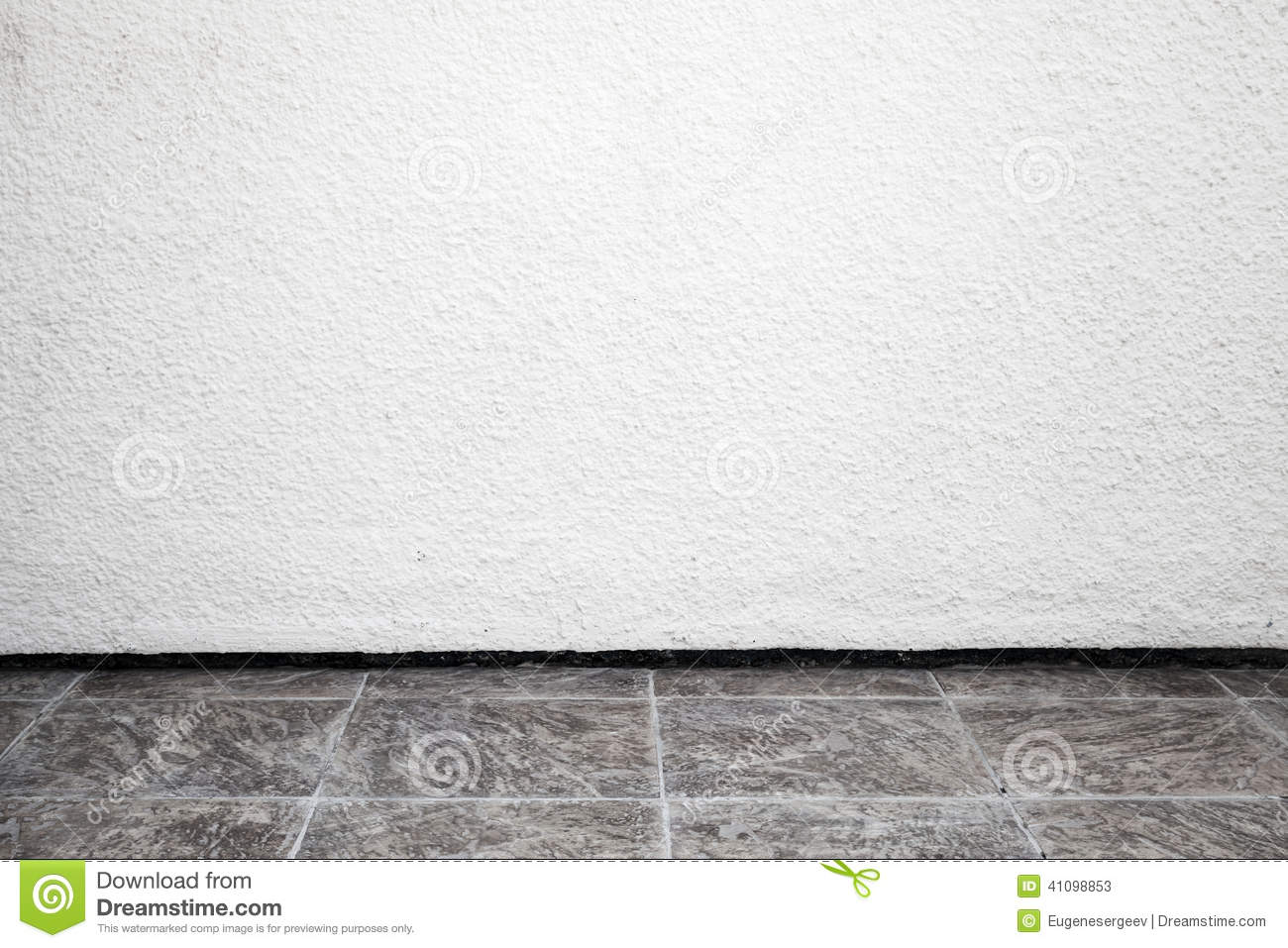 White Interior Background With Rough Stucco Wall