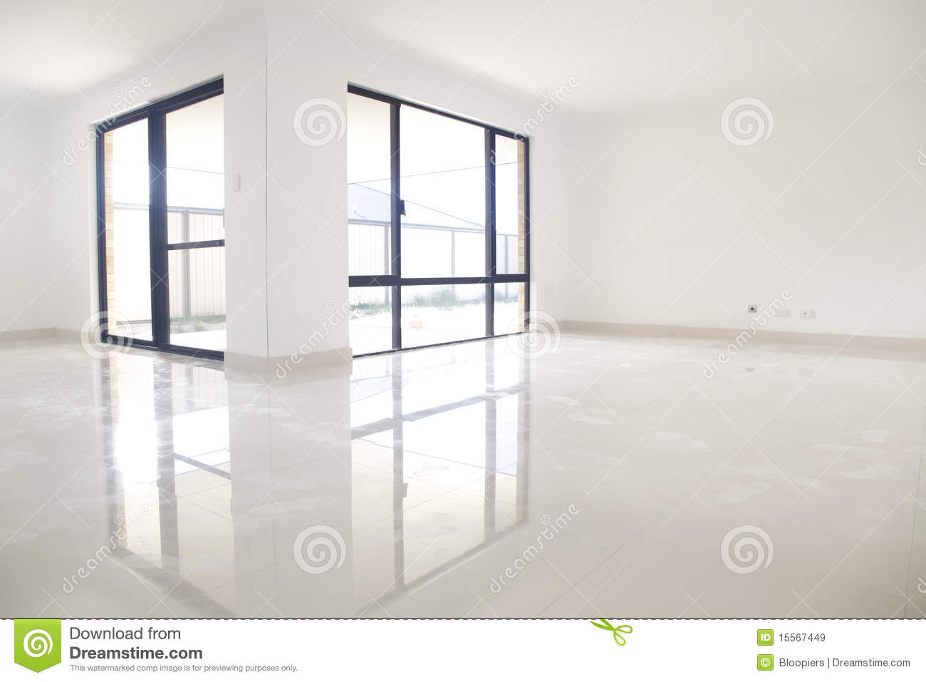 White Interior Reflection Royalty Free Stock Images