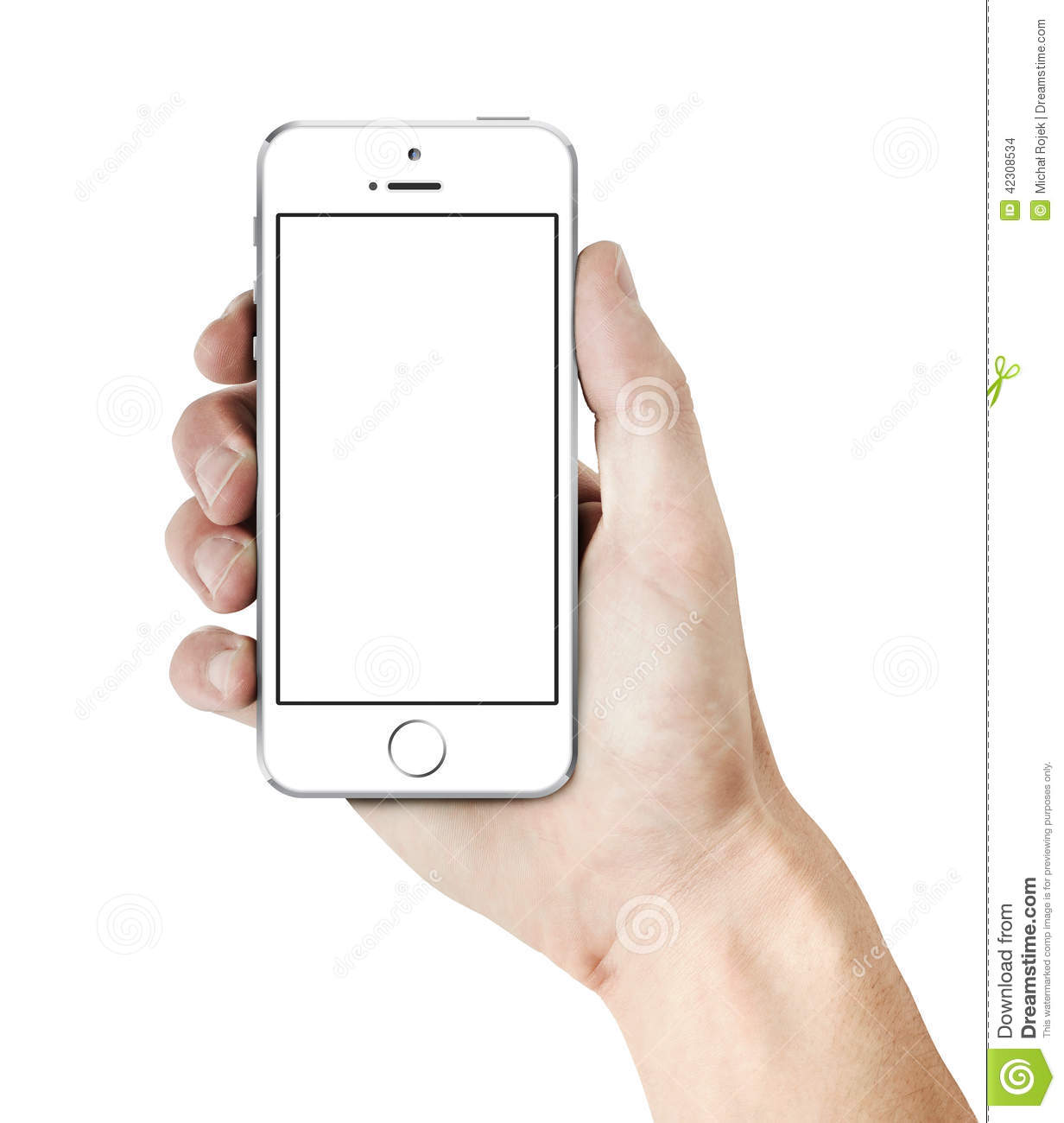 white iphone 5s in hand editorial stock image image of
