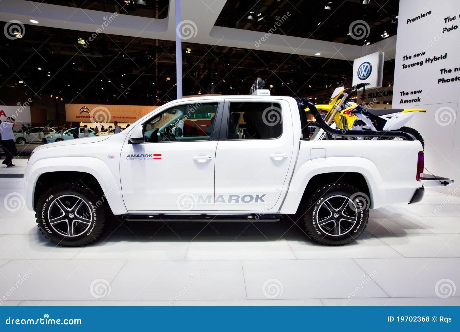 White Jeep Car Volkswagen Amarok Editorial Stock Photo