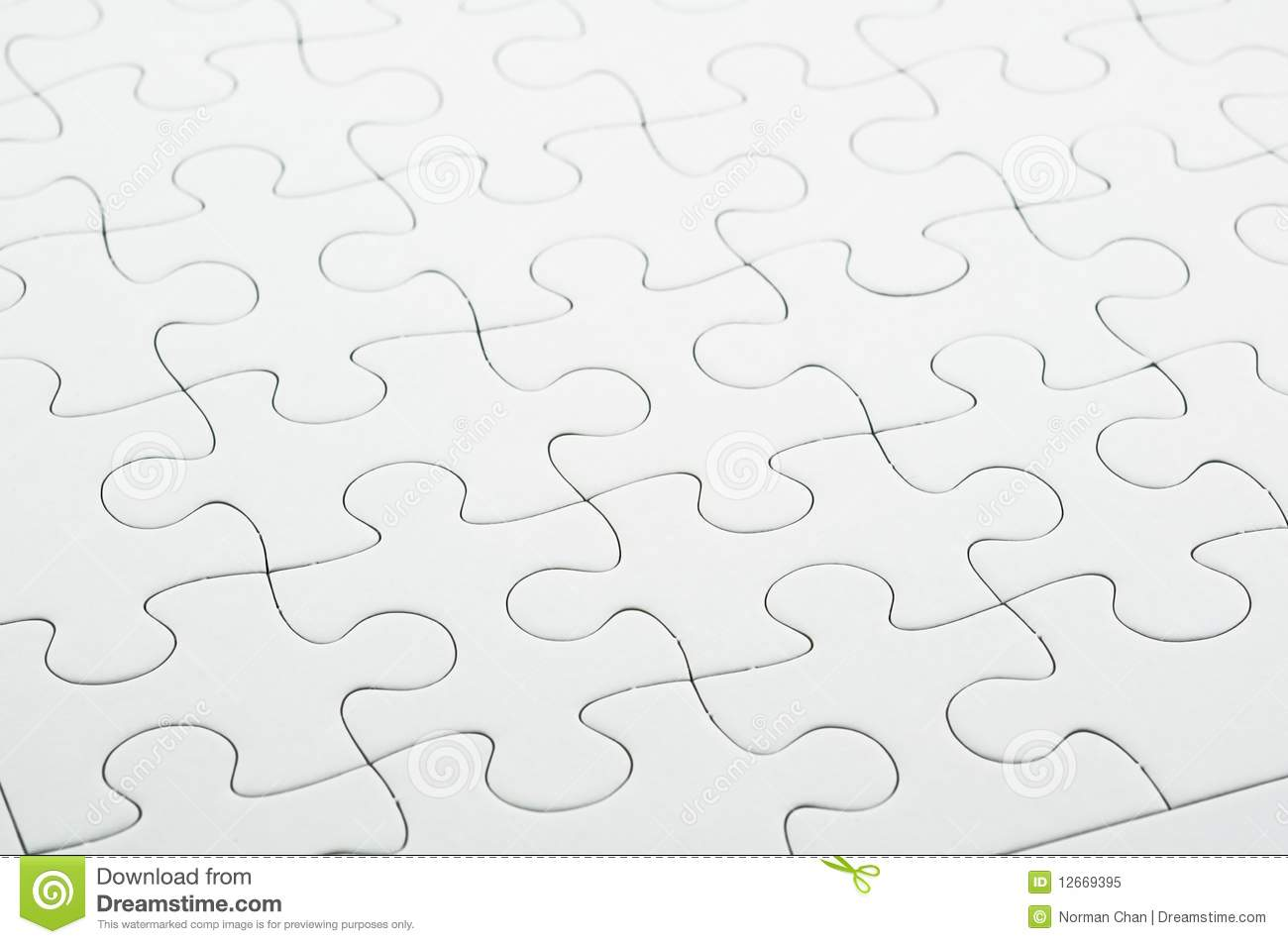 white jigsaw puzzle stock image image of puzzle idea 12669395 - Puzzle Muster