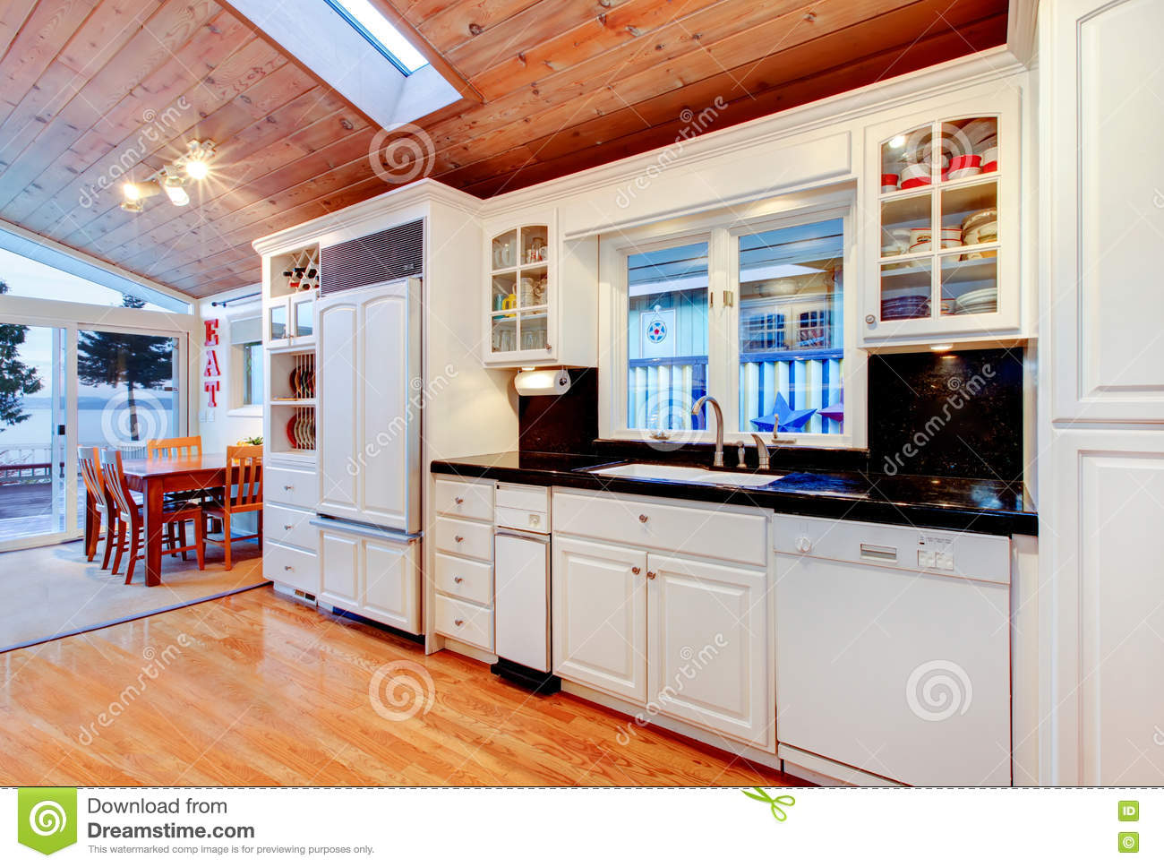 White Kitchen Cabinets With Black Counter Tops In Luxury