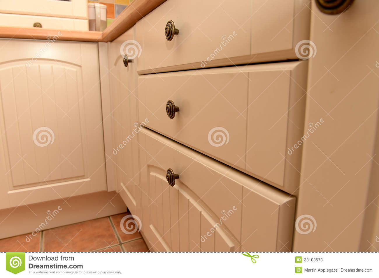 White Kitchen Cabinets And Drawers Royalty Free Stock Photos Image 38103578