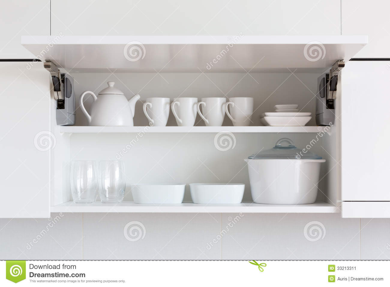 Royalty-Free Stock Photo. Download White kitchenware ...