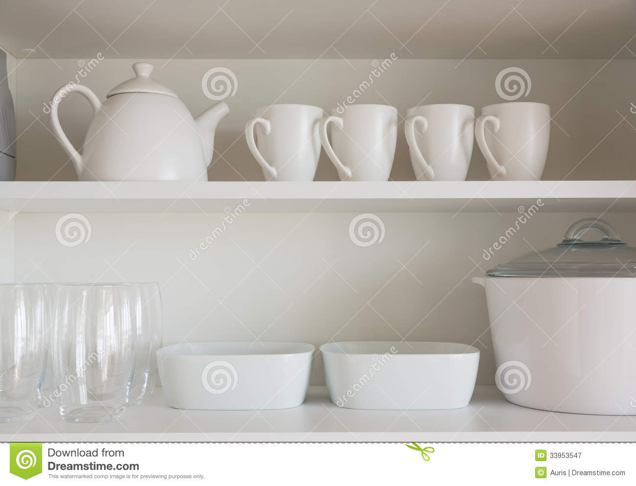 White kitchenware stock image. Image of buffet, plate - 33953547