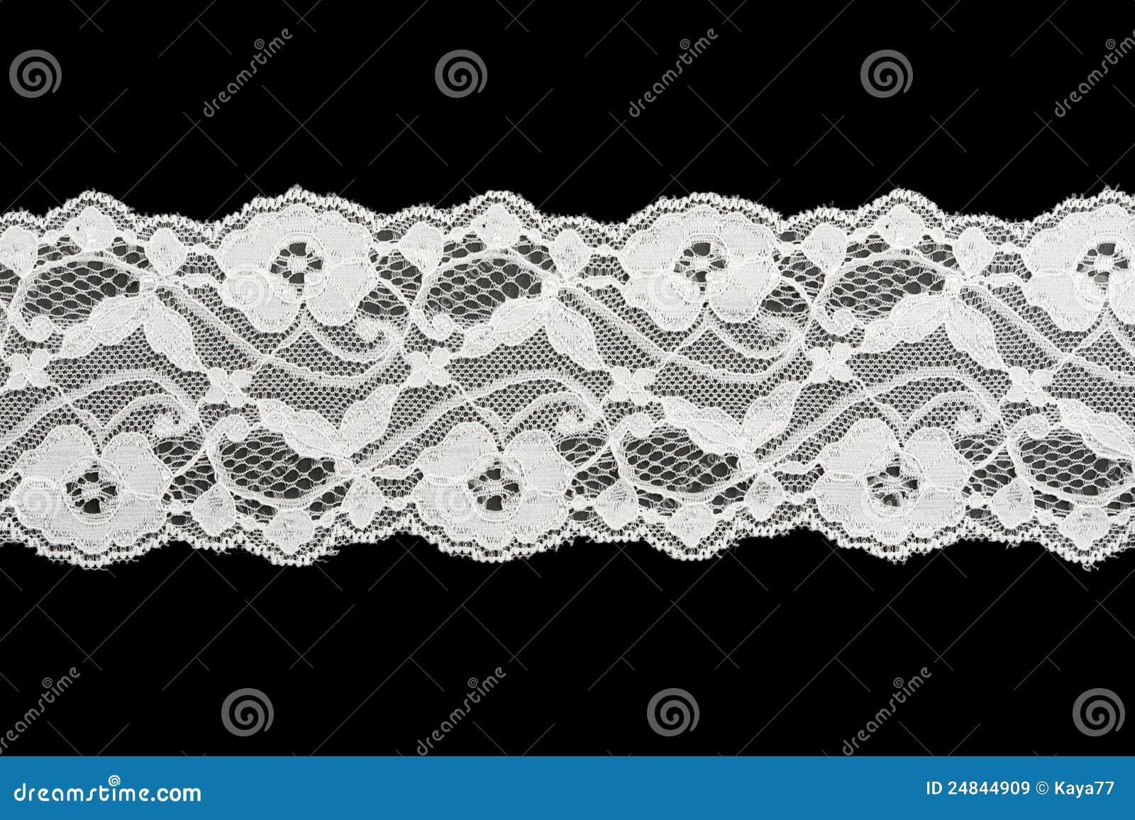 white lace on black background stock image image 24844909