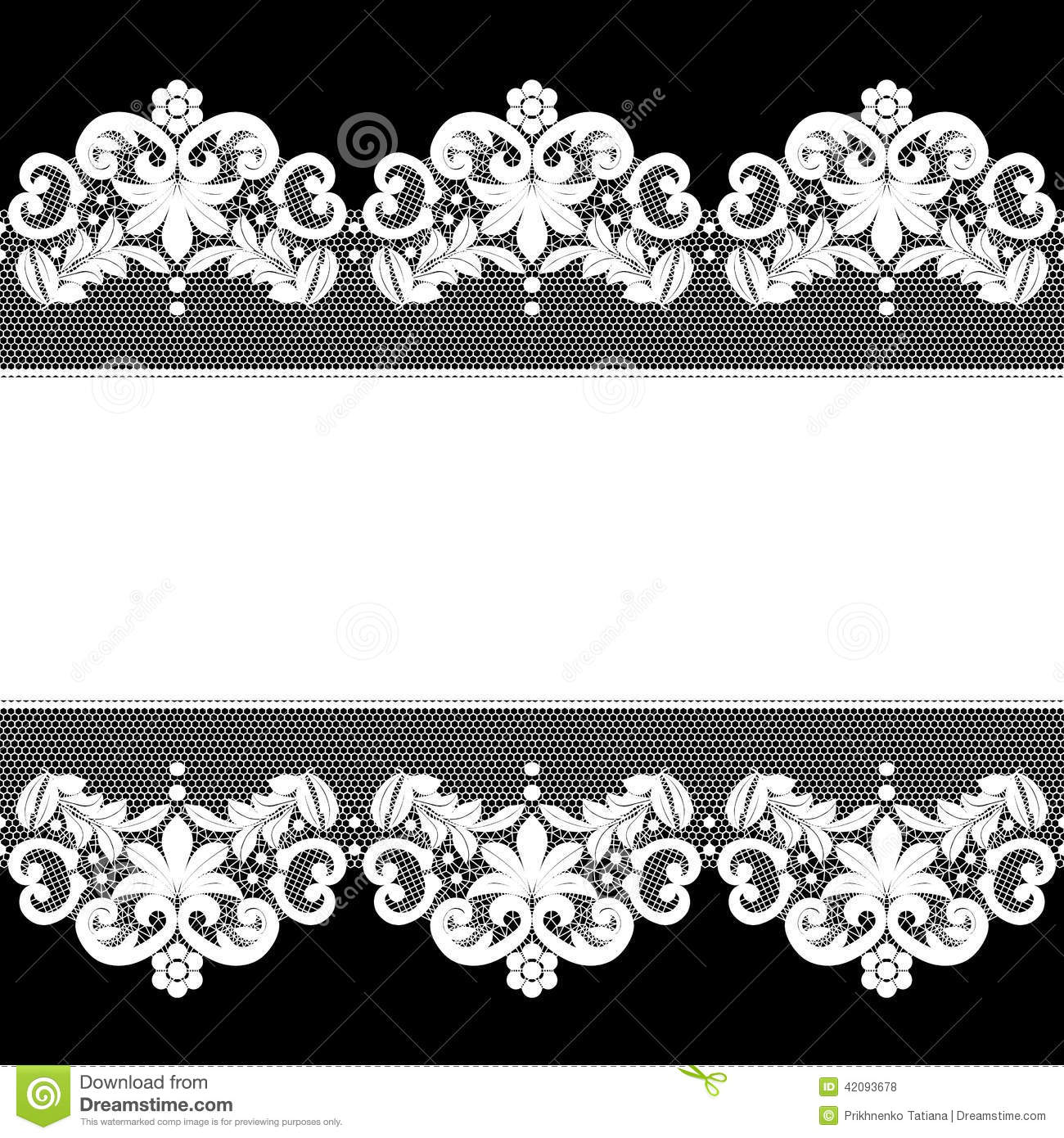 White Lace On Black Background Stock Vector - Illustration of ...