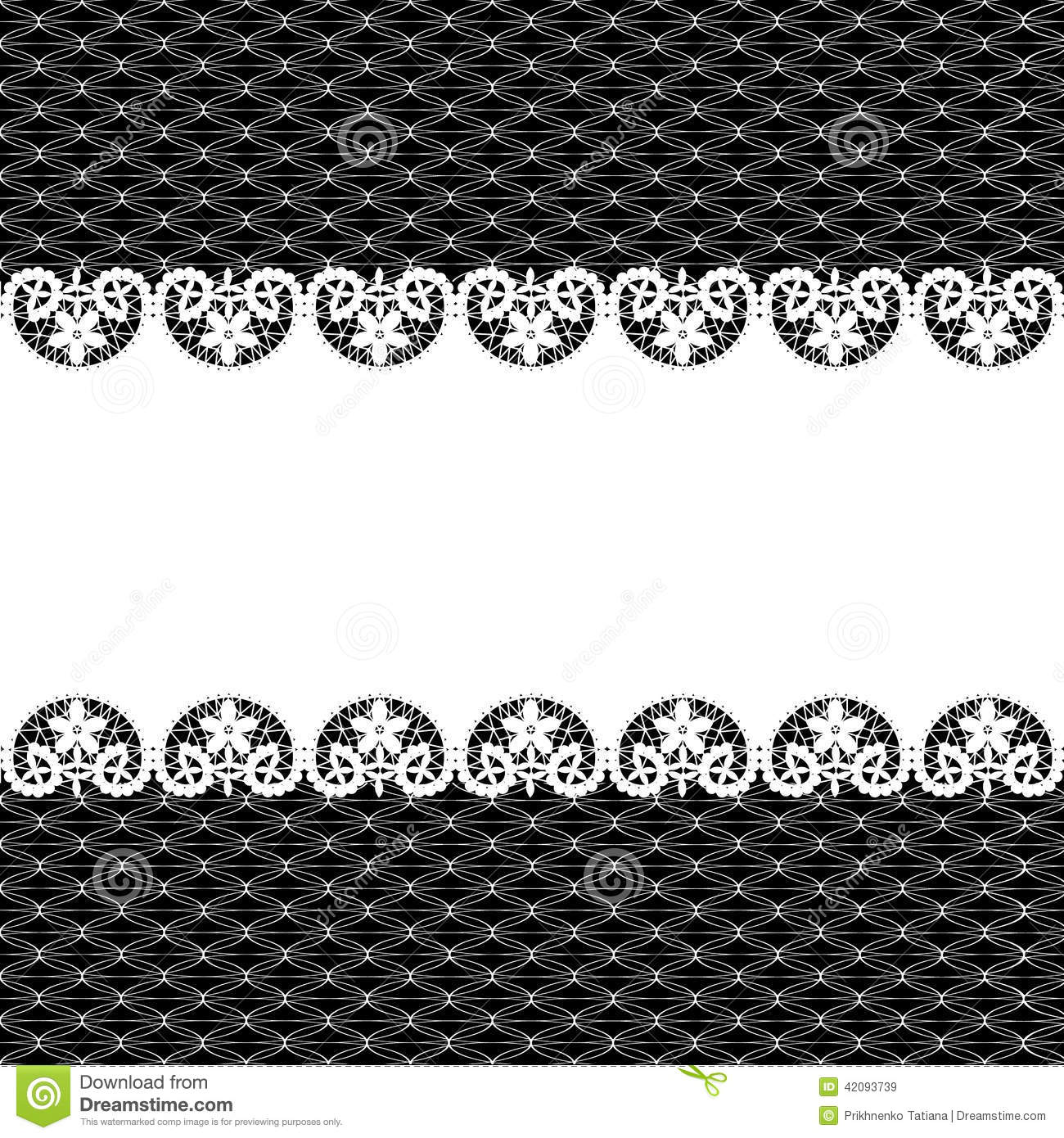 White Lace On Black Background Stock Vector - Image: 42093739