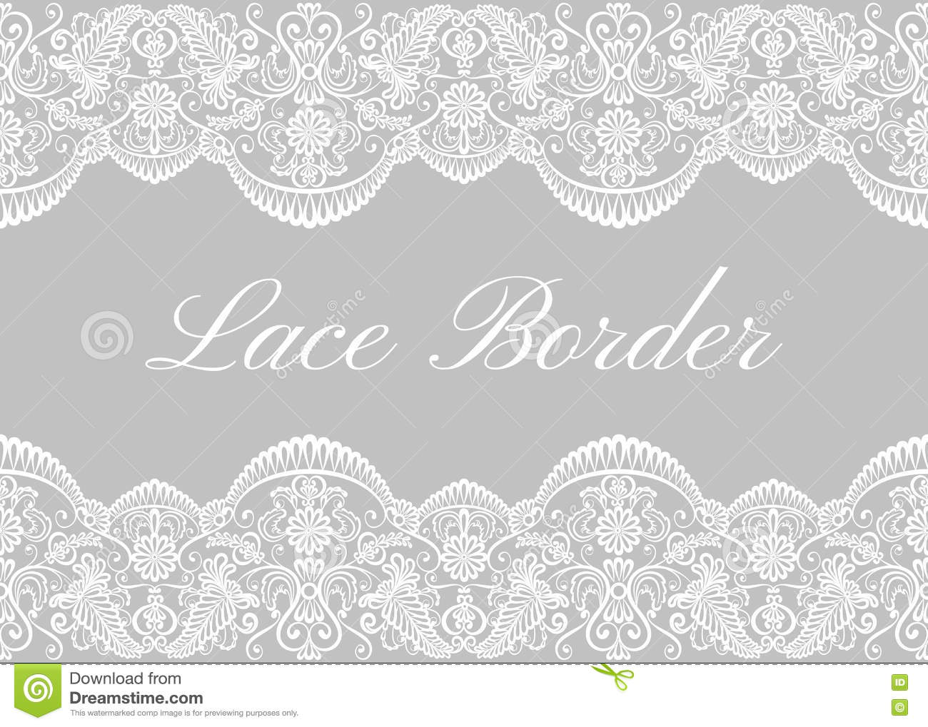 white lace borders stock vector illustration of fashion 72997153